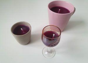 Jak zrobić świeczki z resztek świec - świece w kieliszku i kubkach